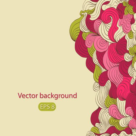 Beautiful pink floral season background  Vector