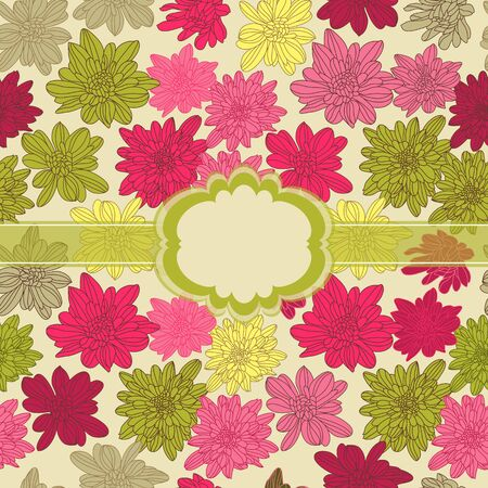Beautiful pink floral season seamless  Vector