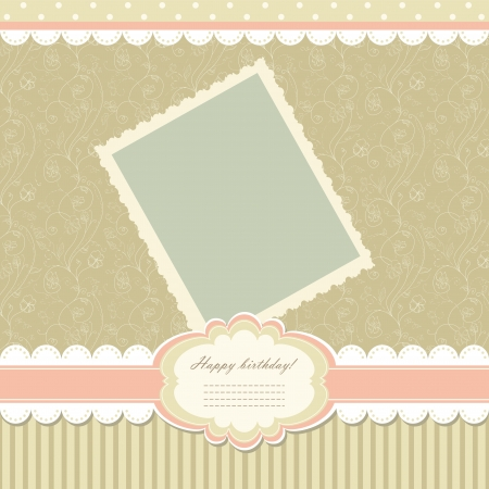 wedding photo frame: Retro baby frame vintage photo  Illustration