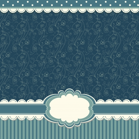 Romantic blue scrapbooking background Vector