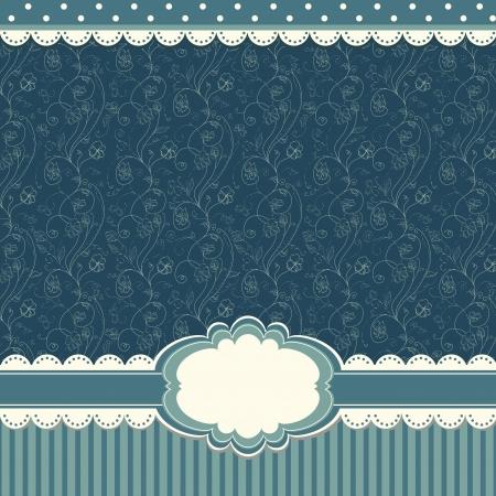Romantic blue scrapbooking background