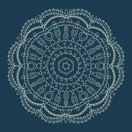Beautiful blue lace ornament for merry christmas card  Stock Vector - 16537736