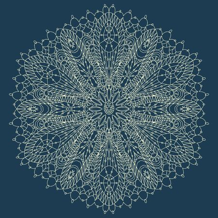 Beautiful blue lace ornament for merry christmas card  Stock Vector - 16537803