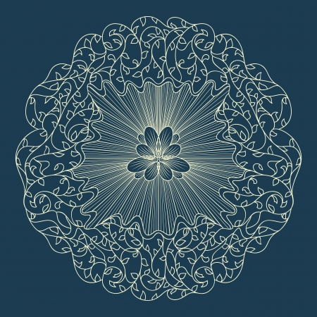 Beautiful blue lace ornament for merry christmas card  Stock Vector - 16537257