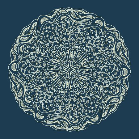 seasons of the year: Beautiful blue lace ornament for merry christmas card