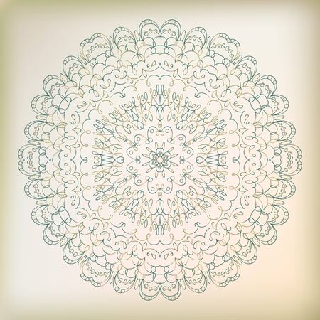 Swirl beautiful lace ornament  Vector