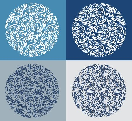 RSet of snowflakes  Vector