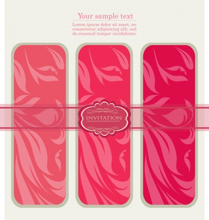 Vintage pink tags , new year brochure, banner, border, wallpaper, template, texture vector eps 10 Stock Vector - 17612611