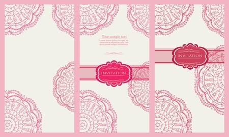 Vintage pink tags , new year brochure, banner, border, wallpaper, template, texture vector eps 10 Stock Vector - 17612708