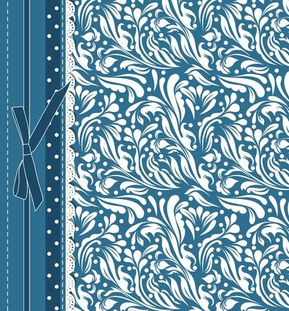 backdrop: Vintage blue background for invitation, backdrop, card, new year brochure, banner, border, wallpaper, template, texture vector eps 10 Illustration