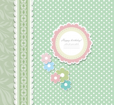 scrap booking: Vintage background for invitation