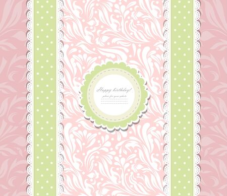 Vintage pink background for invitation Vector