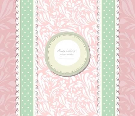 vintage baby: Vintage pink background for invitation