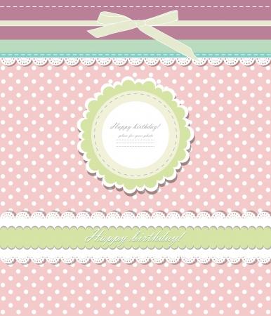 damask background: Vintage pink background for invitation