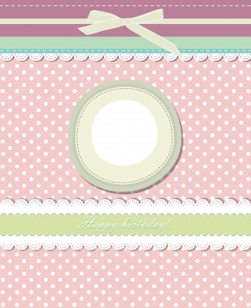 Vintage pink background for invitation