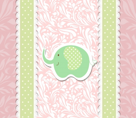 Vintage green doodle toy for pink frame wallpaper  Vector
