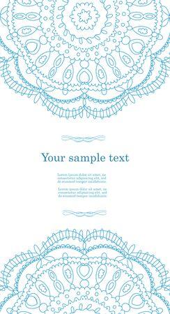 Beautiful blue invitation card Vector