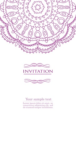 Beautiful purple invitation card Illustration