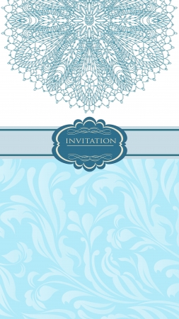 Beautiful blue invitation card Stock Vector - 18085444