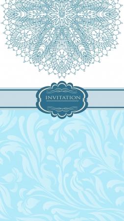 Beautiful blue invitation card Stock Vector - 18085444