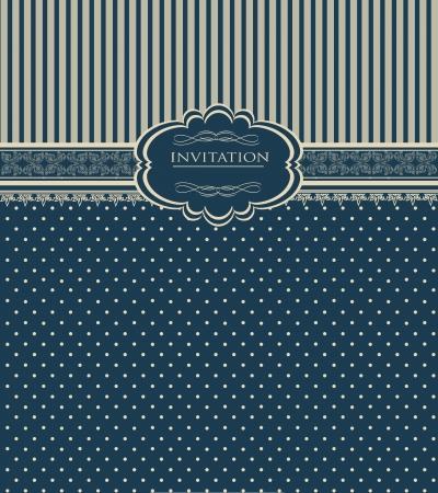 wedding backdrop: Vintage sfondo per la carta dell'invito Vettoriali