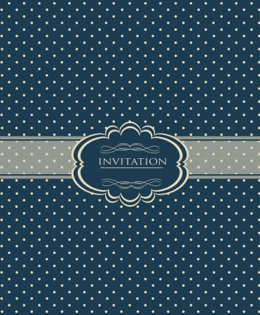 Vintage background for invitation card Stock Vector - 18085409