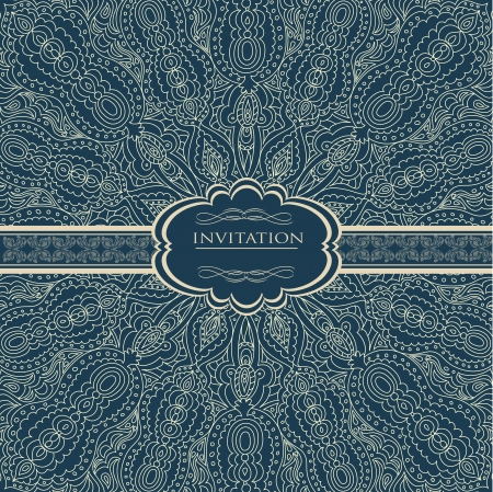 Vintage background for invitation card Stock Vector - 18085449