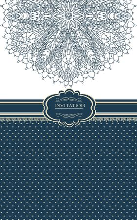 Vintage background for invitation card Stock Vector - 18085434
