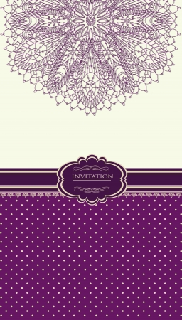 Vintage background for invitation card Stock Vector - 18085445