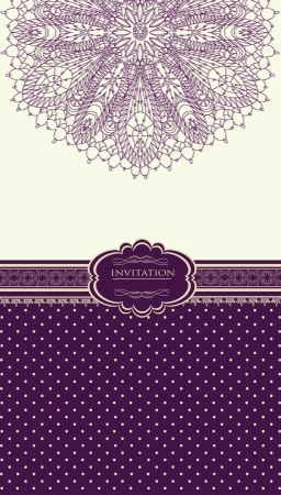 Vintage background for invitation card Stock Vector - 18085437