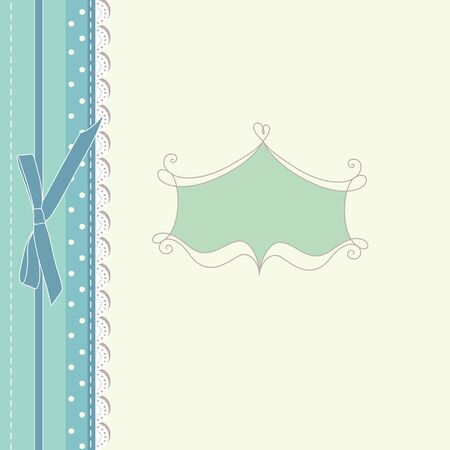 Retro baby greeting card vintage Vector