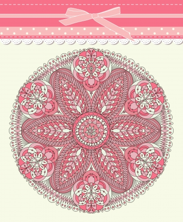 Baby frame vintage with lace Stock Vector - 18085442