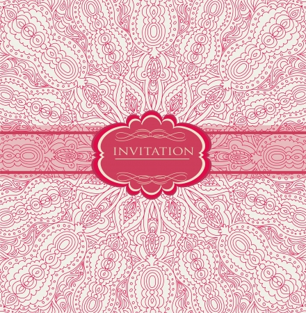 Vintage background for invitation card Stock Vector - 18085447