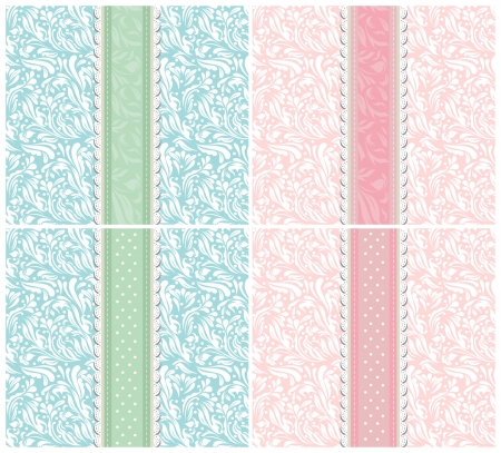 Set of background for invitation card Stock Vector - 18258329