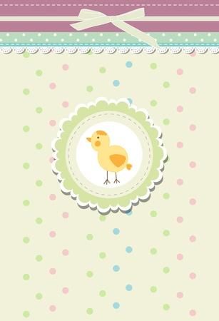 Vintage doodle retro bird chicken