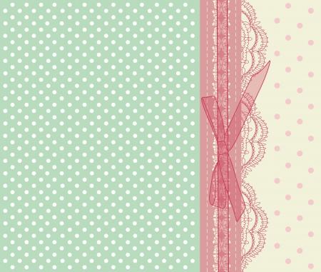 スクラップブッキング: ヴィンテージのピンクのウェディング カード