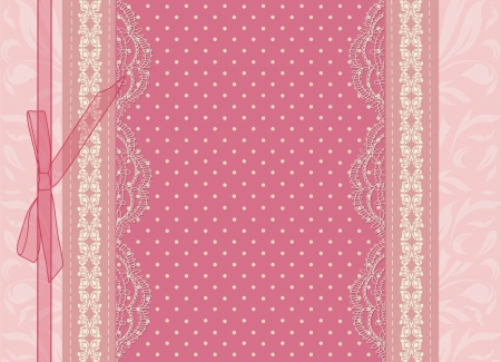 baby girl pink: Vintage pink wedding card vector