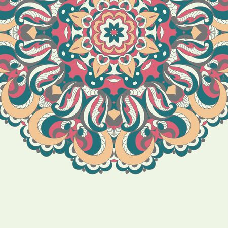 Beautiful arabesque lace pattern background vector eps 8 Vector