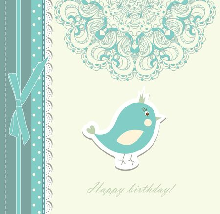 Beautiful card with bird vector eps 8 Vector