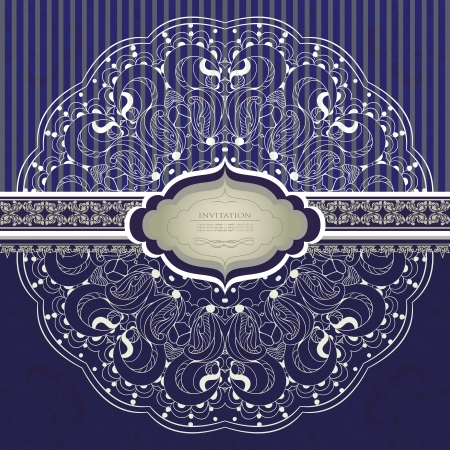 Beautiful invitation with lace  Stock Vector - 21159943