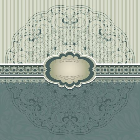 Vintage invitation with lace vector eps 10 Stock Vector - 21159945