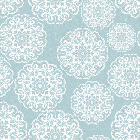 Beautiful blue seamless lace background vector eps 8 Vector