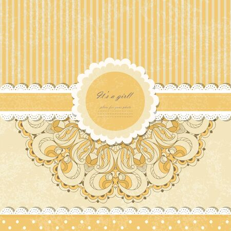 Beautiful lace pattern background vector eps 10 Stock Vector - 21159966