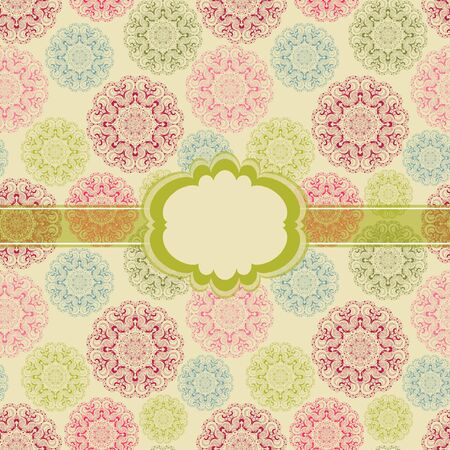 Beautiful colorful seamless lace background vector eps 10 Vector
