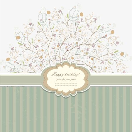 Vintage invitation with lace vector eps 10 Stock Vector - 21159971