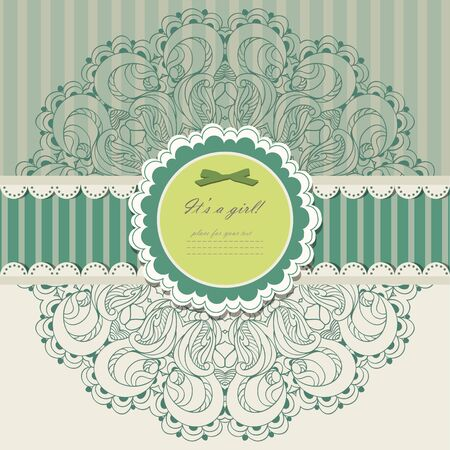 Vintage invitation with lace vector eps 10 Stock Vector - 21159975