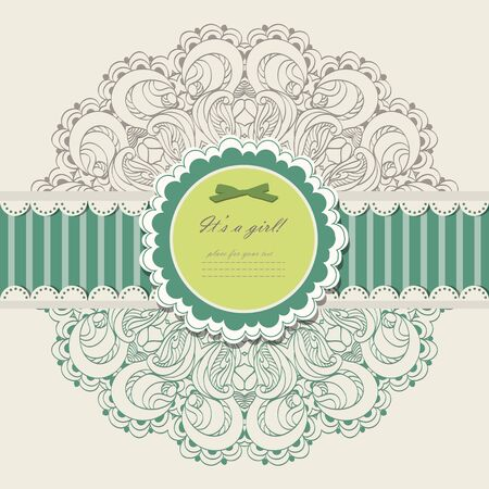 Vintage invitation with lace vector eps 10 Stock Vector - 21159977