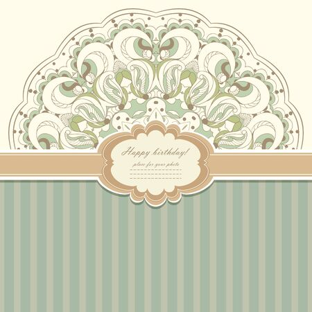 Vintage invitation with lace vector eps 10 Stock Vector - 21160045