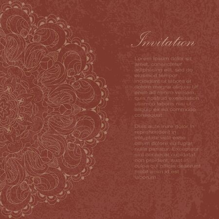Beautiful arabesque lace pattern background vector eps 10 Vector