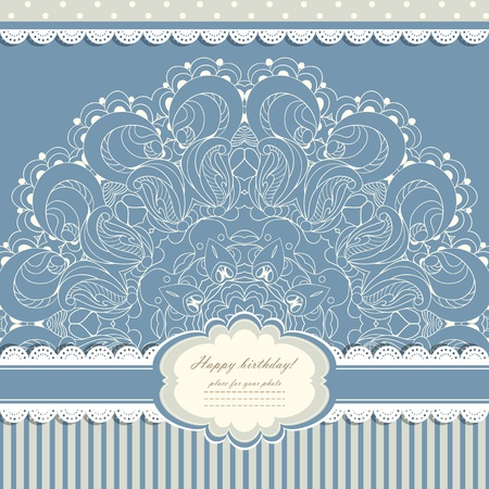 Beautiful lace pattern background vector eps 10 Stock Vector - 21160043